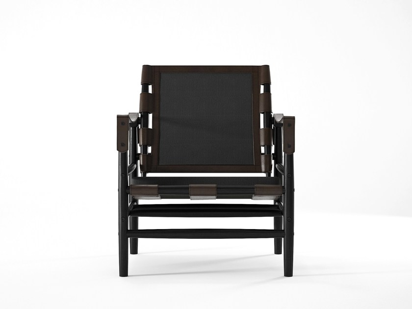 Wooden armchair with armrests NOMAD | Armchair by KARPENTER