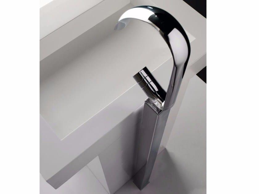 Floor standing single handle washbasin mixer NOOX | Floor standing washbasin mixer - ZAZZERI
