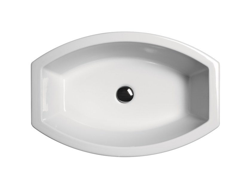 Single pedestal washbasin NORM H85 | Pedestal washbasin by GSI ceramica