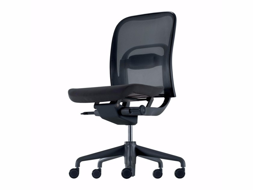 Height-adjustable swivel task chair with casters NORMA - 380 - Alias