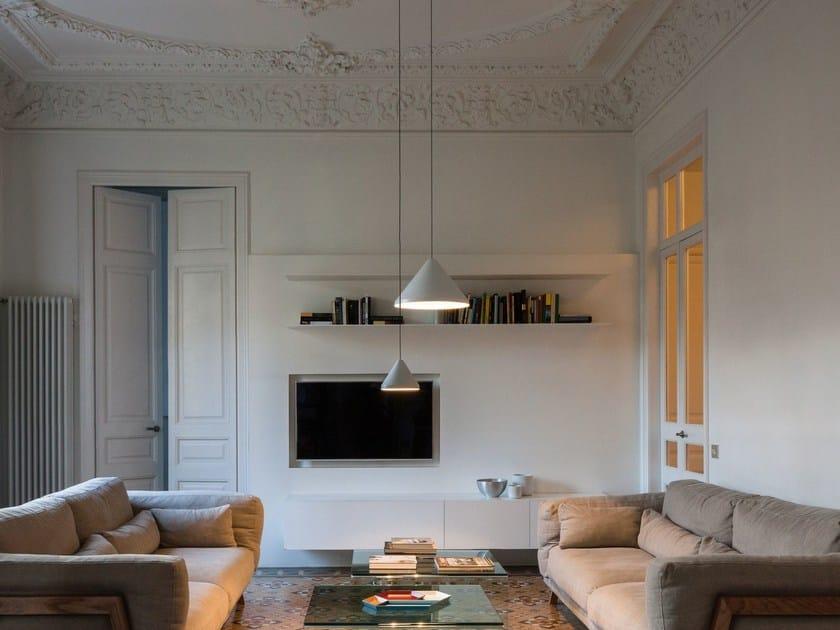 LED carbon fibre pendant lamp NORTH | Pendant lamp by Vibia