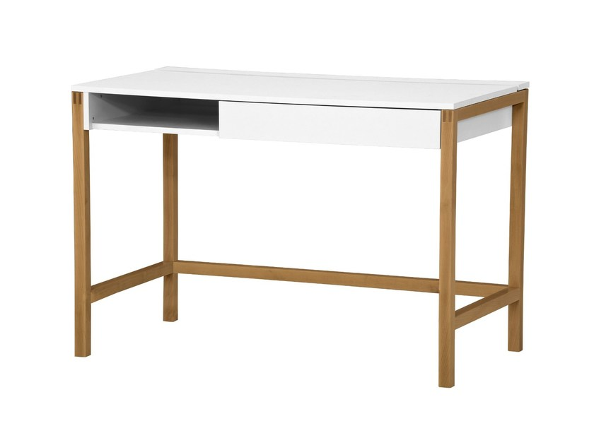 Lacquered rectangular wooden writing desk with drawers NORTHGATE | Writing desk by Woodman