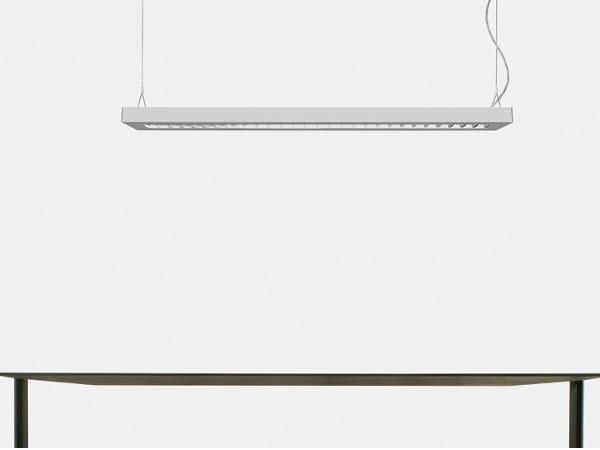 Direct-indirect light fluorescent aluminium pendant lamp NOTA BENE | Pendant lamp - Artemide Italia