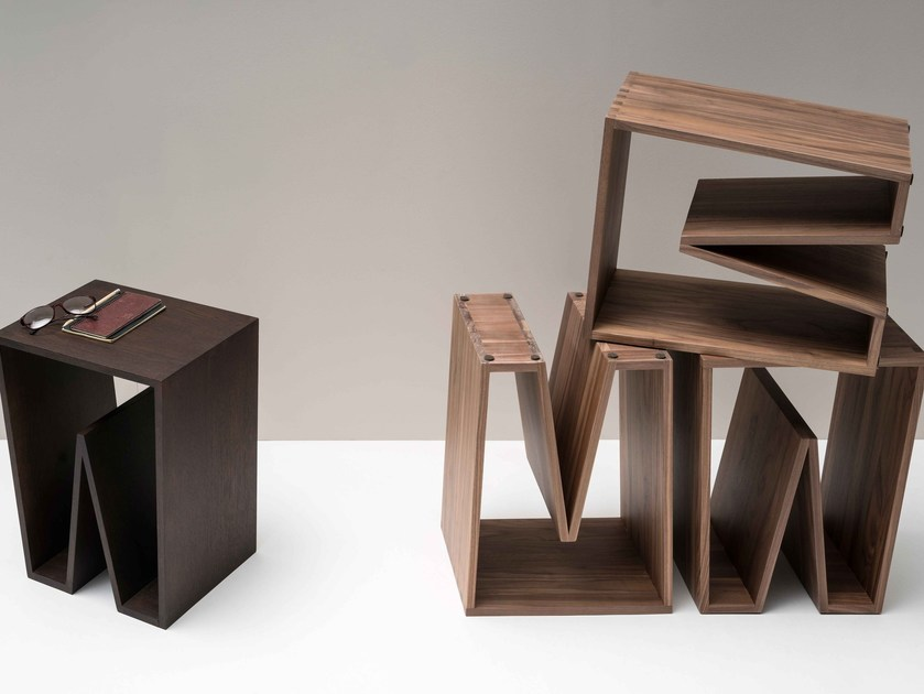 Wooden stool / coffee table NOTCH WOOD - Ex.t