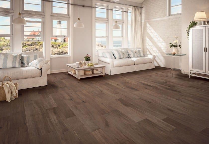 Pavimento in gres porcellanato effetto legno note brown ceramiche keope - Gres porcellanato effetto legno bagno ...