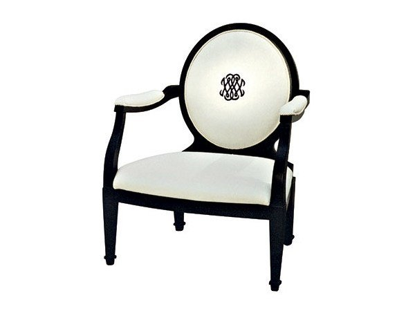 Classic style medallion easy chair with armrests NOVECENTO - SOFTHOUSE