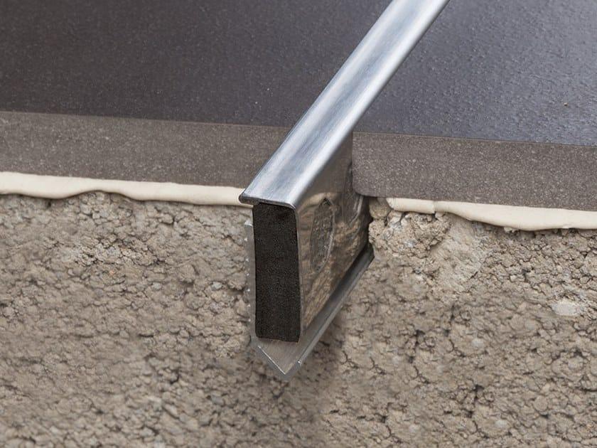 Giunto per pavimento in metallo NOVOJUNTA® DECOR FLECHA STAINLESS STEEL | Giunto per pavimento by EMAC Italia