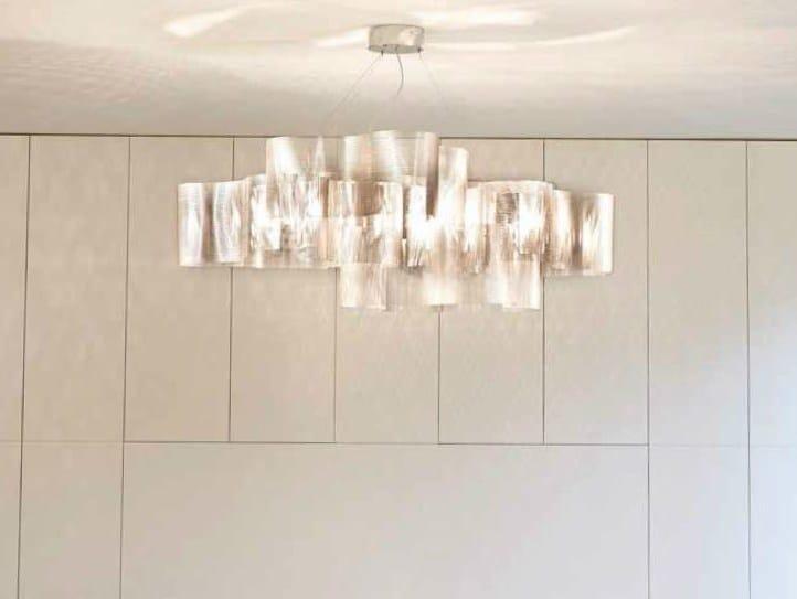 Stainless steel pendant lamp NUAGE 27A - Thierry Vidé design