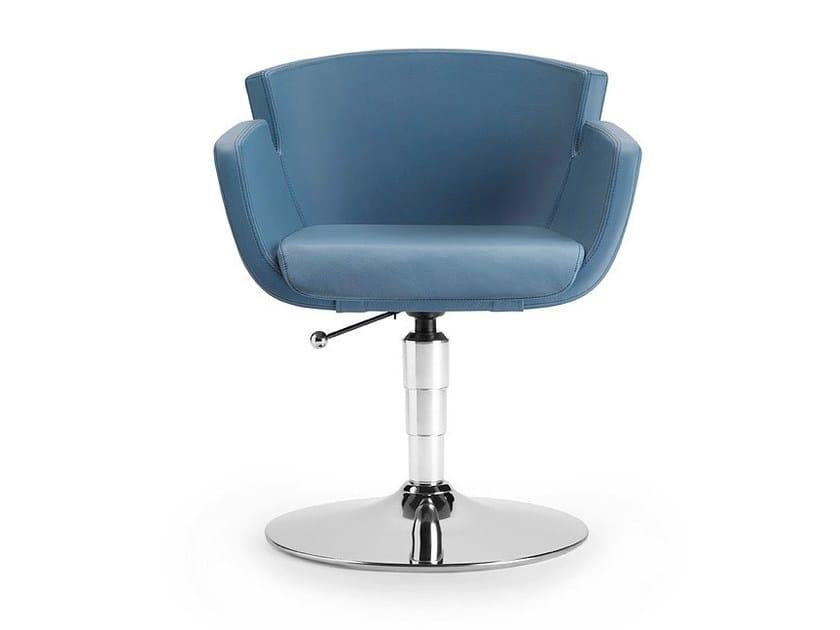 Sedia girevole in pelle con braccioli per sale d'attesa NUBIA 2901 - TALIN