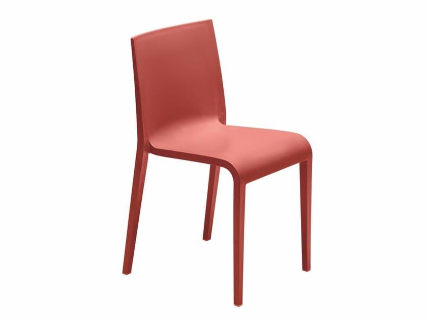 Stackable polypropylene chair Nassau 533 - Metalmobil