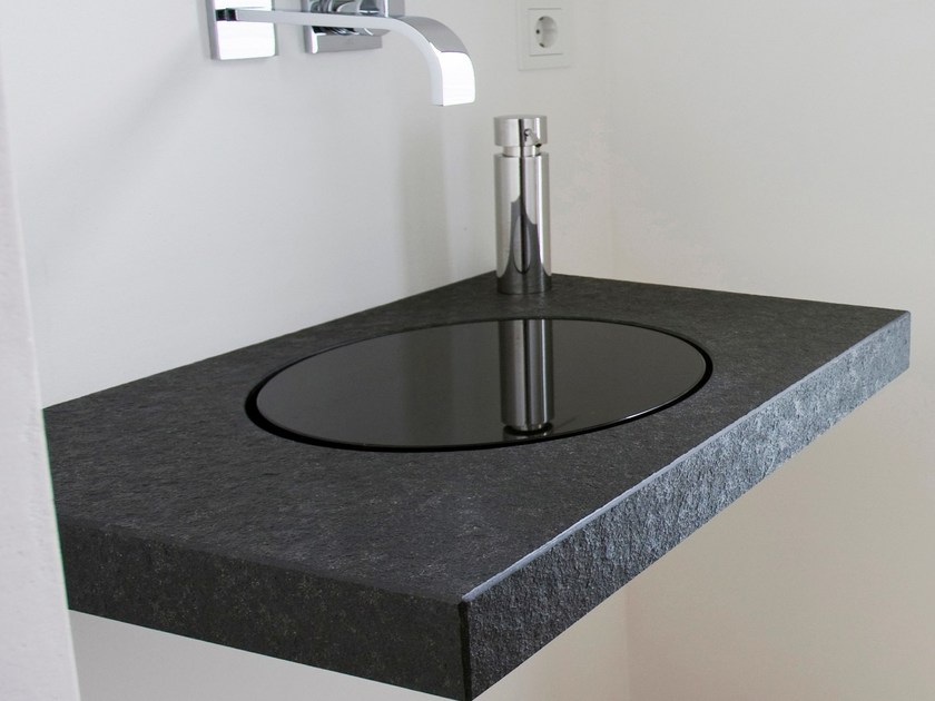 Single granite washbasin countertop Natural stone washbasin countertop - baqua