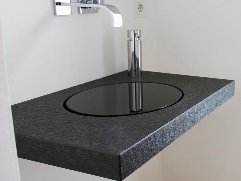 Single granite washbasin countertop Natural stone washbasin countertop by baqua