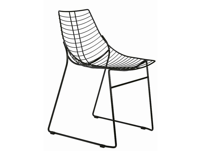 Sled base stackable steel chair Net 096 - Metalmobil
