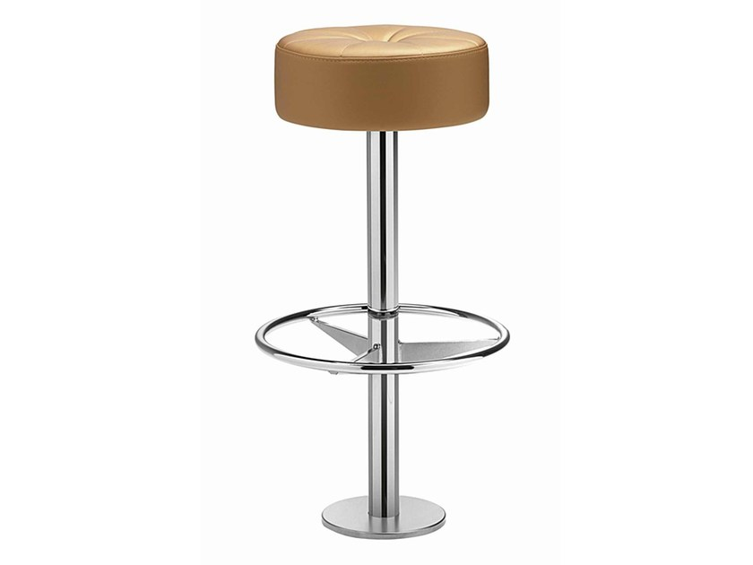 Swivel upholstered stool with footrest Nick 352 - Metalmobil