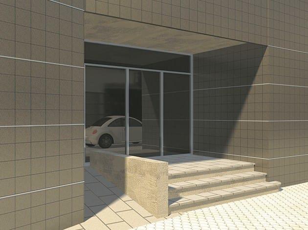 Decorative aluminium edge profile for walls Novofachada - EMAC Italia