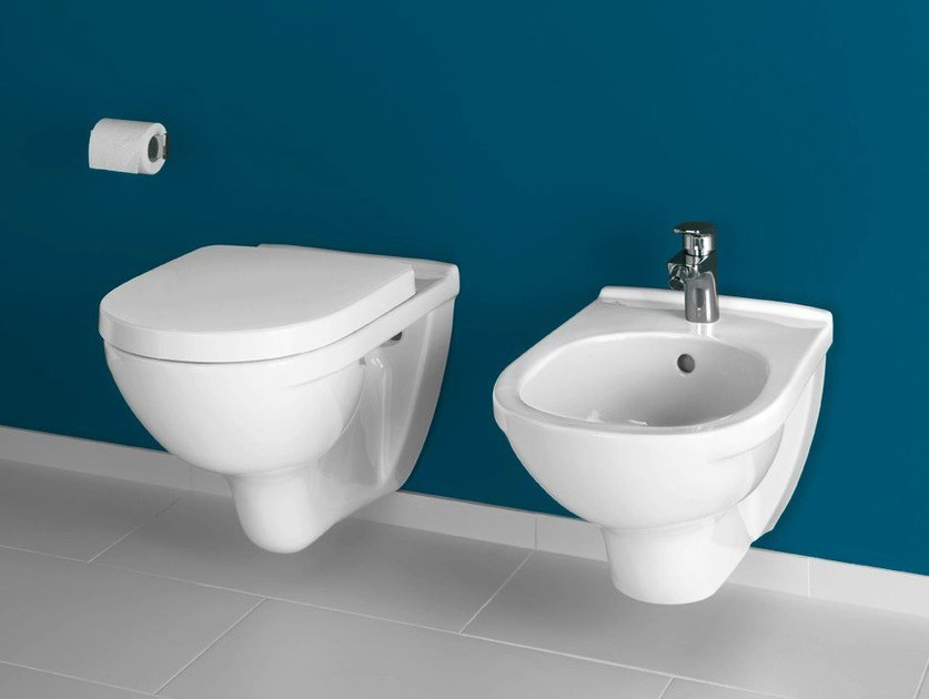 Wall-hung ceramic toilet O.NOVO | Wall-hung toilet - Villeroy & Boch