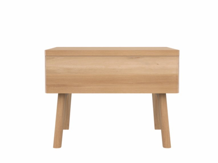 Rectangular oak bedside table with drawers OAK UB - Ethnicraft