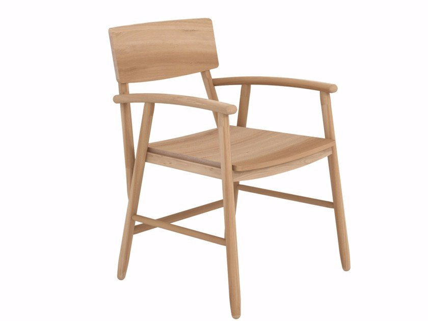 Oak chair with armrests OAK BJORSING CHAIR - Ethnicraft