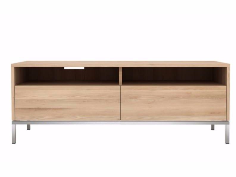 Low oak TV cabinet OAK LIGNA   Oak TV cabinet by Ethnicraft