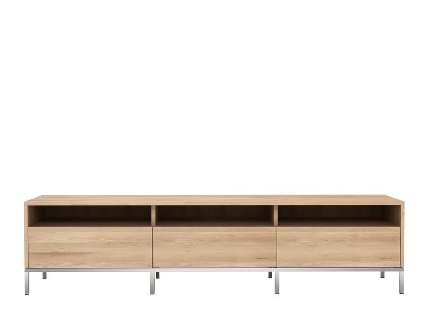 Low oak TV cabinet OAK LIGNA | TV cabinet - Ethnicraft