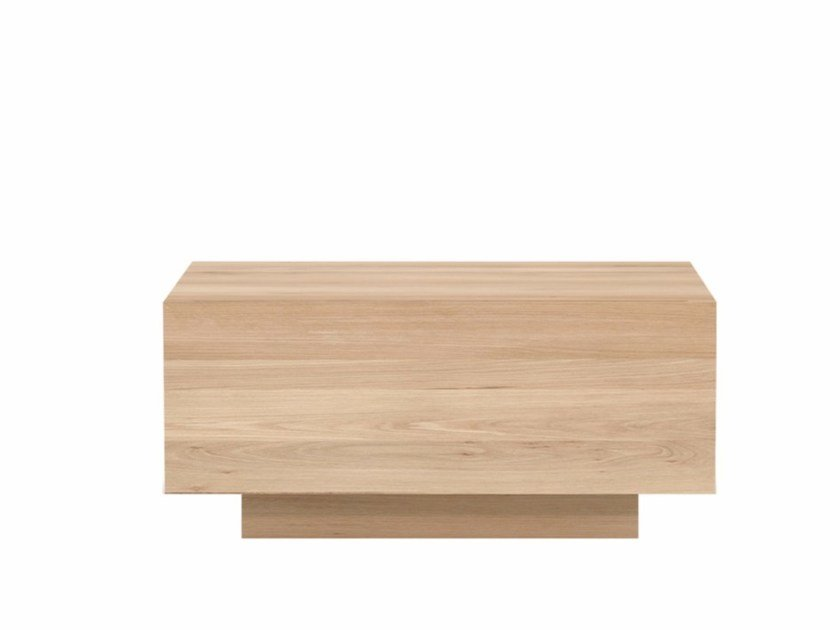 Solid wood bedside table with drawers OAK MADRA | Bedside table - Ethnicraft