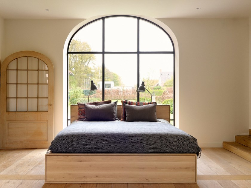 Oak storage bed OAK NORDIC II | Storage bed by Ethnicraft