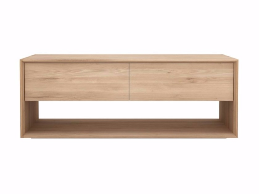 Low solid wood TV cabinet OAK NORDIC | TV cabinet - Ethnicraft