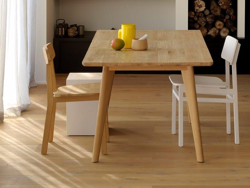 Extending rectangular oak dining table OAK OSSO | Extending table - Ethnicraft