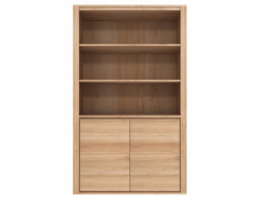 Open oak bookcase OAK SHADOW | Oak bookcase - Ethnicraft
