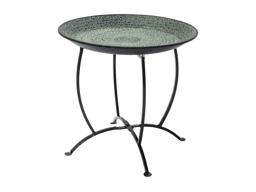 Round aluminium tray OASIS GREEN - KARE-DESIGN