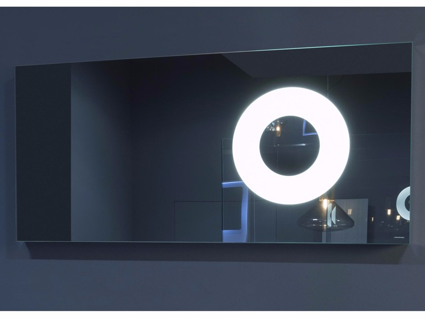 Rectangular mirror with integrated lighting OBLÒ - Antonio Lupi Design®