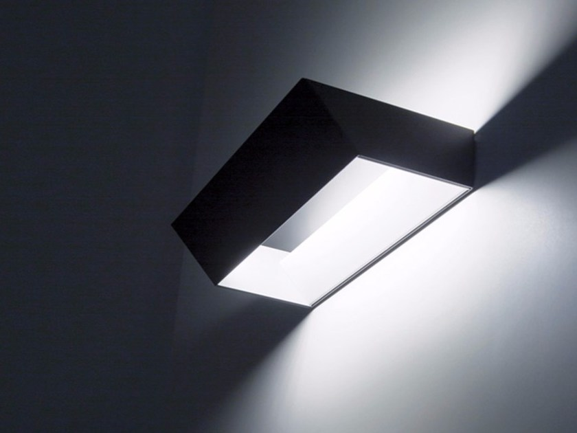 LED metal wall lamp OBLIQUA - DAVIDE GROPPI