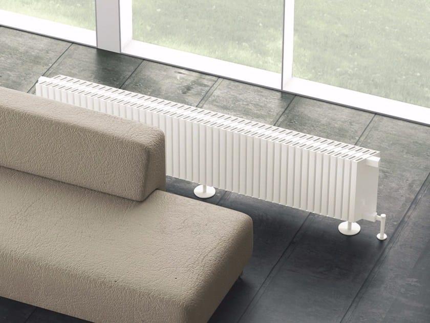 Modular floor-standing aluminium decorative radiator OBLIQUO | Floor-standing decorative radiator by K8 Radiatori