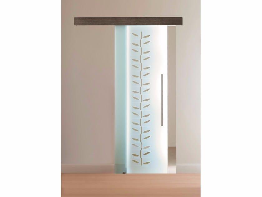 Glass sliding door OCCHI DI GATTO by Casali