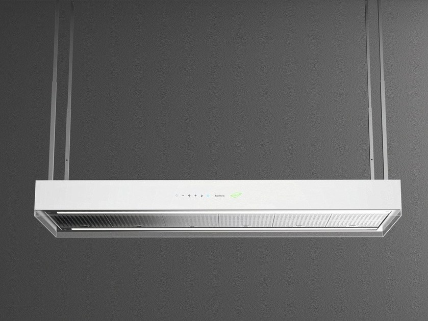 Island hood with bipolar controlled ionization with integrated lighting OCEANO by Falmec