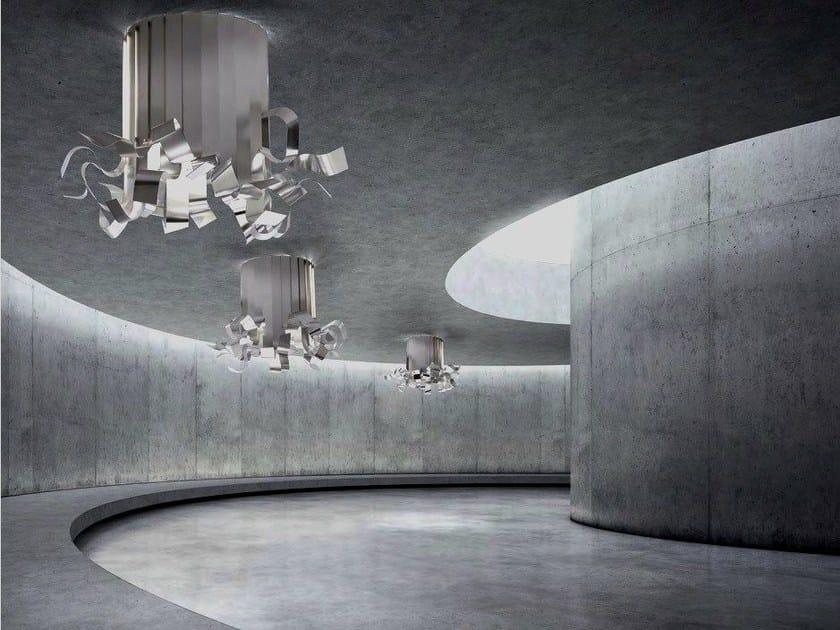 Lampada da soffitto a LED fatta a mano in alluminio OCTO - BODEMA