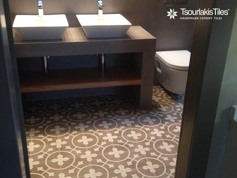 Indoor/outdoor cement wall/floor tiles ODYSSEAS 334 by TsourlakisTiles