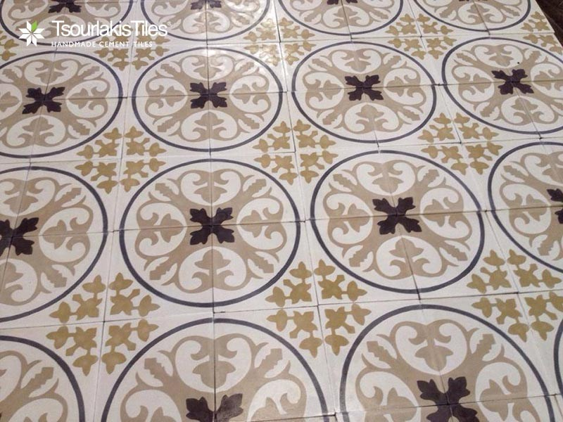 Indoor/outdoor cement wall/floor tiles ODYSSEAS 349 by TsourlakisTiles