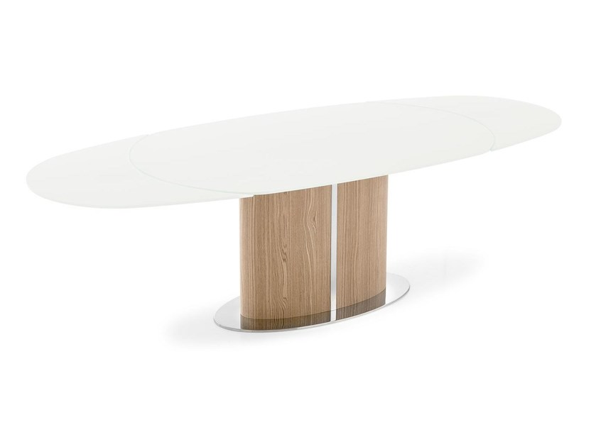 Extending glass dining table ODYSSEY - Calligaris