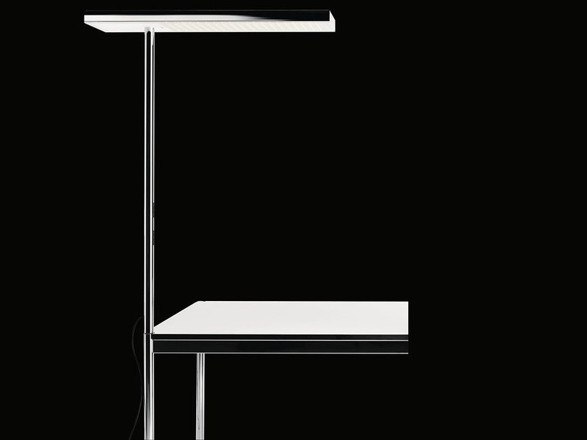 LED chrome plated steel desk lamp with fixed arm OFFICE AIR 2.0 | Desk lamp by Nimbus