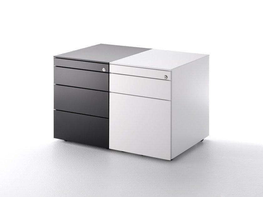 Office drawer unit with casters OFFICE CABINET - MDF Italia