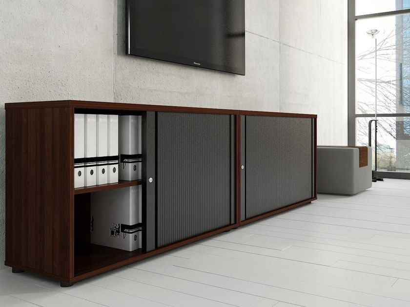 Low office storage unit with tambour doors STANDARD | Low office storage unit - MDD