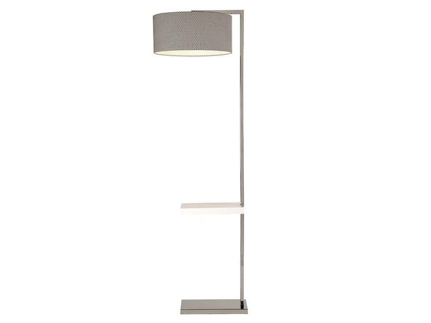 Stainless steel floor lamp OFFSHORE - Branco sobre Branco