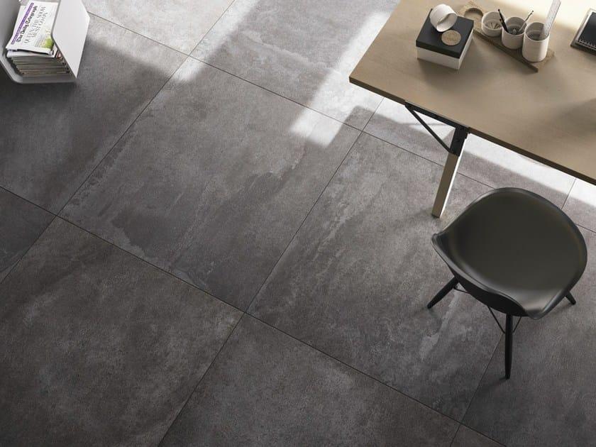 Pavimento in gres porcellanato smaltato effetto cemento for Piastrelle 80x80