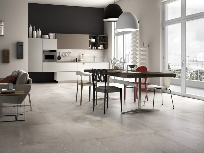 Pavimento in gres porcellanato smaltato effetto cemento for Ceramica d imola