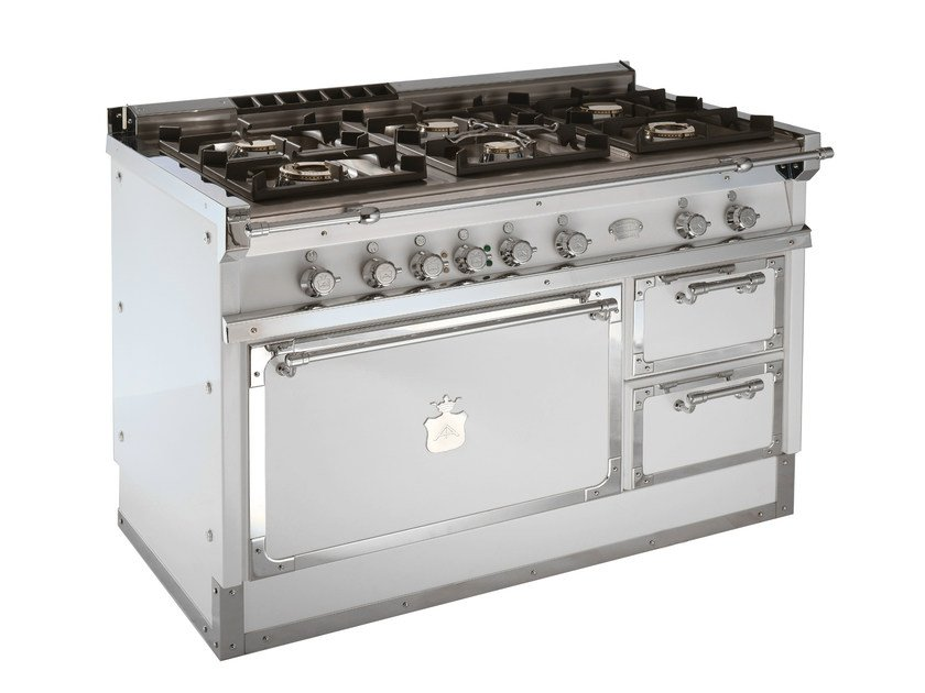 Cooker OG128 | White and Chromed brass - Officine Gullo