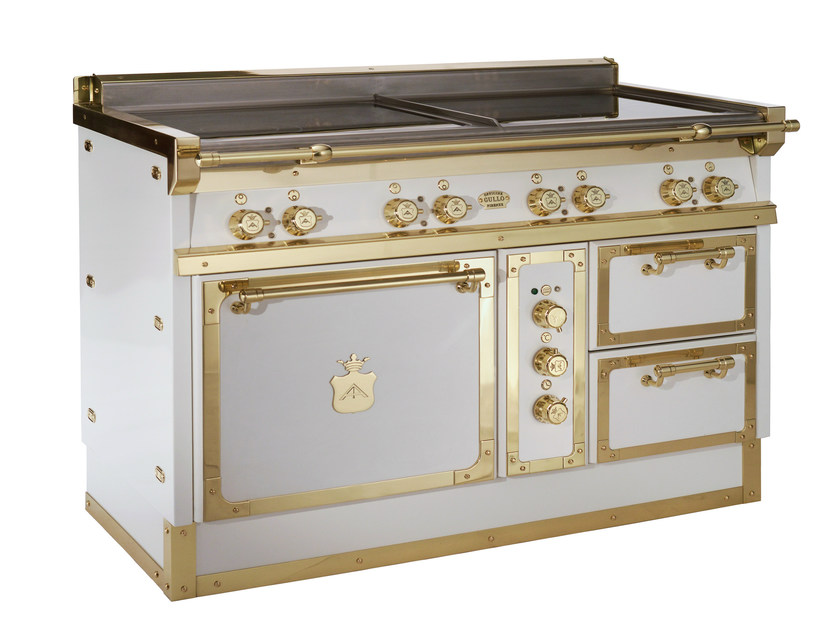 Cooker OG128 | White and Polished brass - Officine Gullo