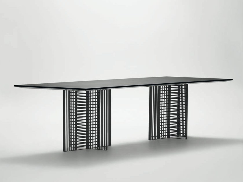 Rectangular metal dining table OH | Rectangular table - da a