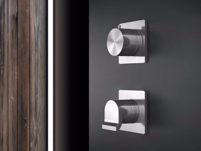 Stainless steel shower mixer with diverter OKM5 | Shower mixer by Radomonte