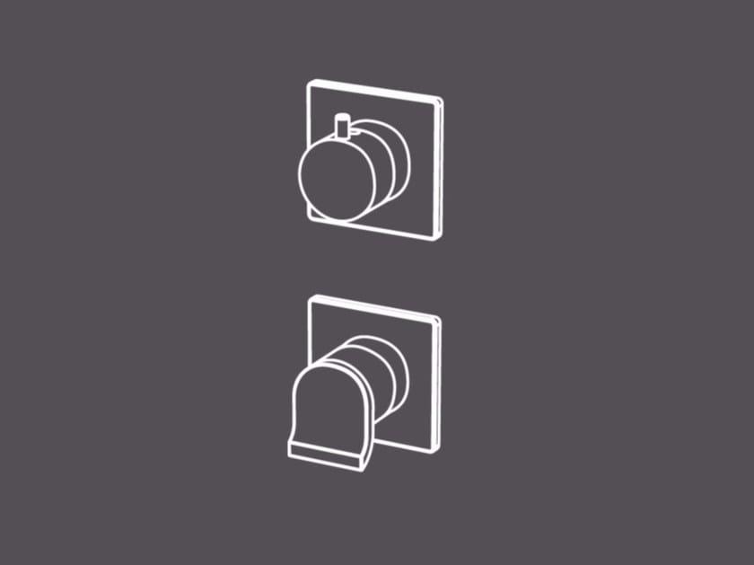 Stainless steel shower mixer with diverter OKM9 | Shower mixer by Radomonte